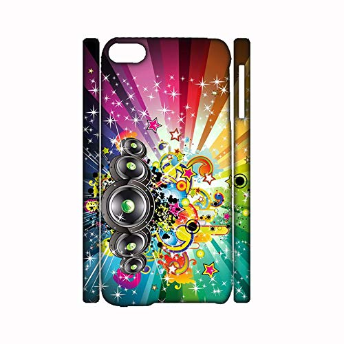 None/Brand Tener Music Aparente Compatible con Apple iPhone 5/5S Se Caja del Teléfono Abs para Chicos Choose Design 106-4