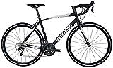 Tommaso Monza Endurance Aluminum Road Bike, Carbon Fork, Shimano Tiagra, 20 Speeds, Aero Wheels - Matte Black - Large