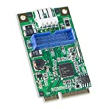 Syba 19-Pin USB 3.0 Header Mini PCI-Express Card with Female USB 3.0 Cable SD-MPE20142