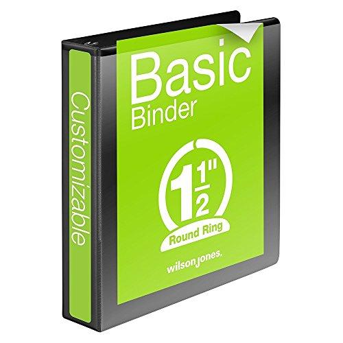 8.5 x 5.5 Inches Wilson Jones 2 Inch Capacity Basic Round Ring Vinyl Binder Bl