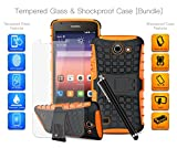 MobiBax Ultimate Bundle for Huawei Ascend Y550 - Tempered