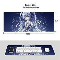 初音ミクhatsune Miku 大型マウスパッド 大判ワイヤレスマウスパッド ゴムパッド ゲーミングマウスパッド パソコン用 耐久性 多用途 滑り止め 30*80cm