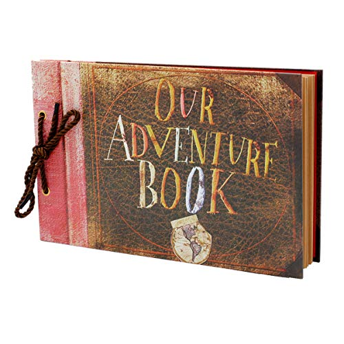 Our Adventure Book DIY Handmade Travel Album Family Anniversary Scrapbook for Birthday,Thanksgiving,Wedding Baby Shower Christmas Gift