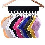 LEKUSHA Cap Organizer Hanger, 10 Baseball Cap Holder, Hat Organizer for Closet - Change Your Cloth Hanger to Cap Organizer Hanger - Keep Your Hats Cleaner Than a Hat Rack