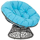 Sillón de cojín redondo de ratán, cojín de silla colgante de columpio de cesta, engrosar cojines de silla de hamaca de huevo colgante redondo Decoración transpirabilidad,100*100cm(no incluye la silla)