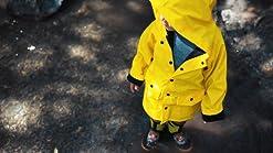 OAKI Childrens Rain Jacket Wildlife Tracker 10