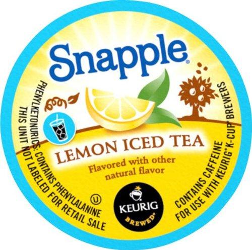 Snapple Lemon Iced Tea K-Cups 22- 0.42oz (2 pack)