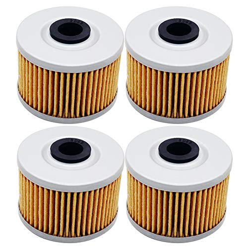 4 Pack Yerbay Compatible Motorcycle Oil Filter for Honda TRX 250 Fourtrax 250 1985 1986 1987 / TRX250 X TRX250X 1987-1992