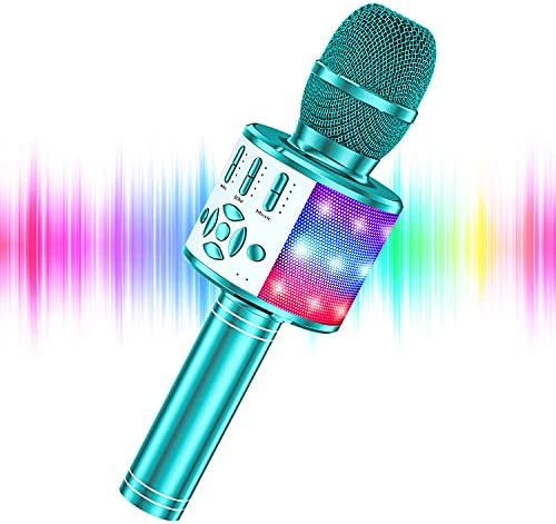 YOHIA Portable Handheld Karaoke Microphone for Kids Hot Toy Gifts for Girls Teens Wireless Bluetooth product image
