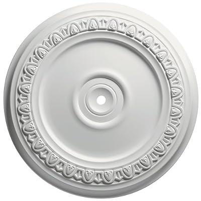 Focal Point Egg and Dart Medallion, Primed White