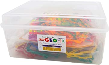 3D GEOFIX ジオフィクス(ジオシェイプス) ボリュームセット カラーMIX スタンダード&クリスタル 3歳 4歳 5歳 知育玩具 図形 ブロック おもちゃ メーカー限定増量セット GE-SET-008