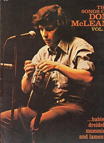 The Songs Of Don McLean, Vol.2 .....babies, dreidels, mummies and laments (Songbook)