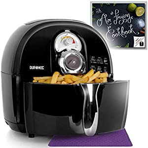 Duronic Air Fryer AF1 1500W Multicooker Mini Oven – Recipe Book Included – Healthy Cooker Food Oven …