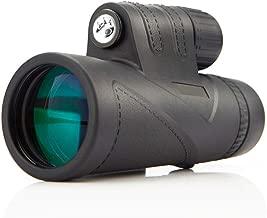 Carl Artbay Monocular, 8x42 Handheld Waterproof Nitrogen BAK4 Portable HD Telescope, Fixed Magnification Manual, Adult Room Appearance Bird, 8X (Black)