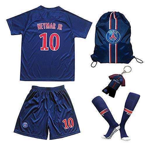 Paris Neymar Trikot Set #10 Heim 2018/19 Kinder Fussball Trikot Mit Shorts und Socken Kinder (3-4 Jahre)