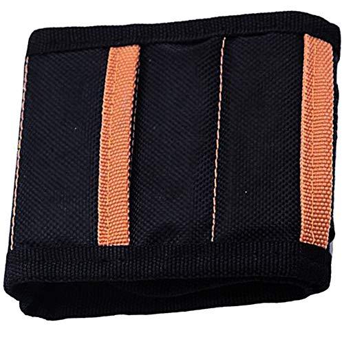 Pulsera magnética para hombre, herramienta magnética, soporte para cinturón, organizador de muñeca, color negro