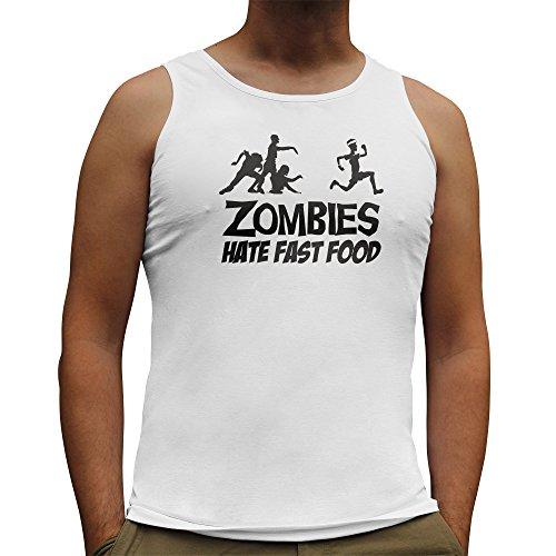 Diseño de zombis Nutees detesten los para hombre con estampado de carcasa para comida rápido sin mangas chaleco para botella de para sillita de