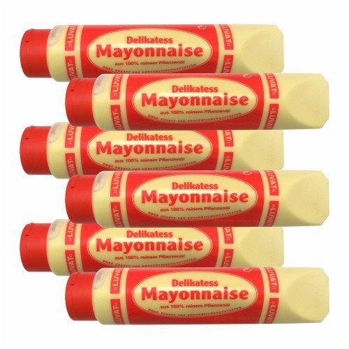 6x Luvat 'Delikatess Mayonnaise', 875 ml