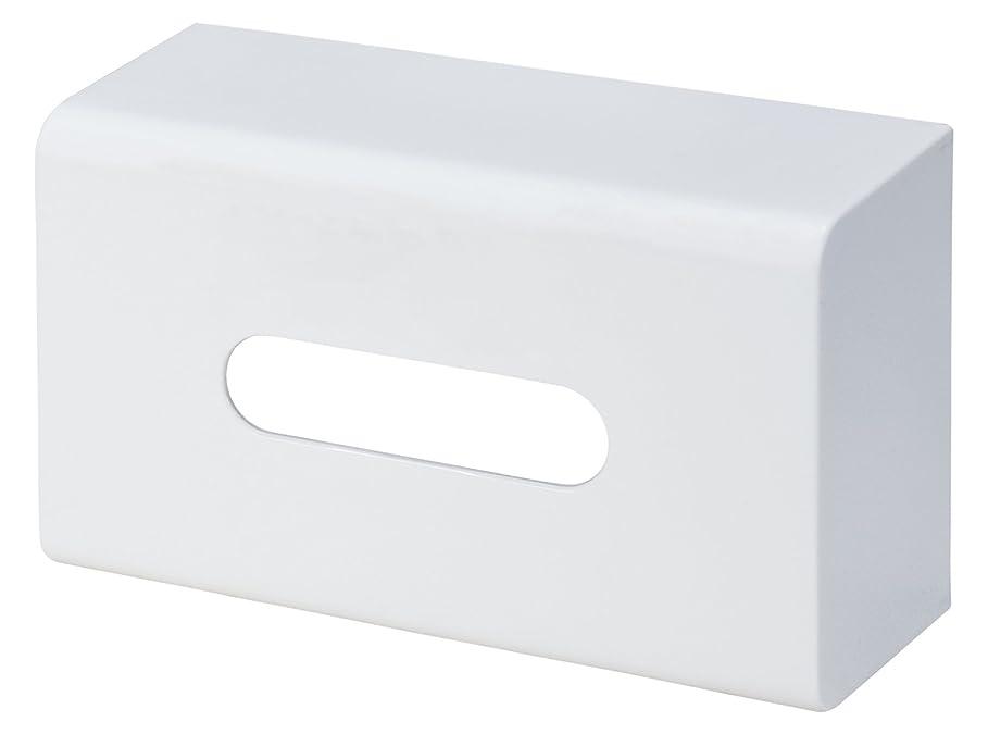 散文旋律的ミトンライクイット(Like-it) ティッシュケース?ホルダー ホワイト 外寸/W25.7×D8.9×H15cm