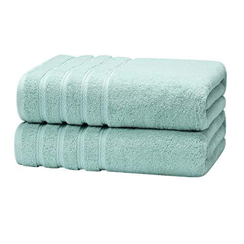 Growell Plush Luxury Bath Sheets - Aqua 33 x 63 Inch Spa Cotton Soft Bath Towel Set, Bathroom Large Hotel Bath Towels