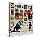 Banksy バンクシー 女の子とライオン ポスター アートパネル キャンバス 絵画 インテリア 壁飾り 壁掛け