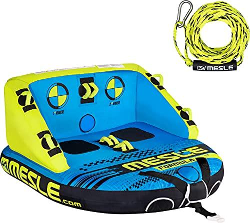 MESLE Tube Set Formula mit Leine, 2 Personen, Sofa Fun-Tube für Boot, aufblasbare Towable-Couch zum Ziehen, für Kinder & Erwachsene, Wasser-Ski Schlepp-Reifen, Wassersport Wasser-Ring