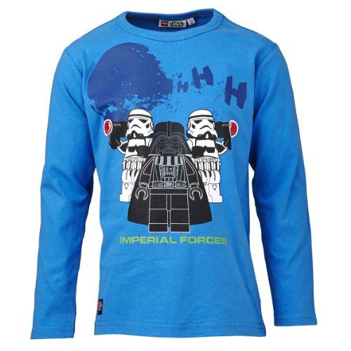 LEGO Wear Sweatshirt Col ras du cou Opaque Garon - Bleu - Blau (542 BLUE) - FR : 4 ans (Taille fabricant : 104)