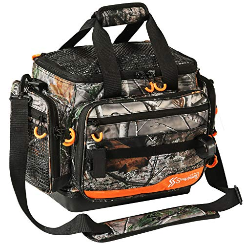 Sougayilang Fishing Tackle Bags Water-Resistant Fishing Tray Bags - Portable Fishing Organizer Shoulder Satchel - Suitable for 3600 3700 Tackle Box- Camouflage -Standard Bag