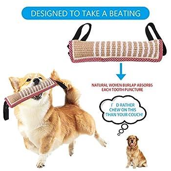 adakel Lot de 2 boudins pour chien - Pour le dressage de chien - En jute - Pour l'entraînement du chien - K9 IGP IPO