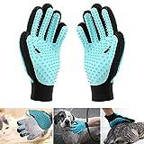 Etmury Haustier Bürsten Handschuh,Doppelseitig Möbel Fellpflegehandschuh Hund Katze,Extrem Effektiv Pet Bürste Handschuh,2 in1 Fusselbürste Tierhaare für Lange/Kurze Pelz