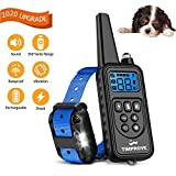 2020 Latest Version 330 Yards Range Remote Dog Training Collar, Rechargeable and IPX7