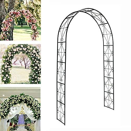 YCMY Arcos De Jardín De Hierro Forjado, 140 X 220 Cm Arco De Planta Trepadora, Arco De Rosas, Estilo Rústico, Varias Escaladas Planta Rimming De Jardín Boda Nupcial Arco De Jardín.