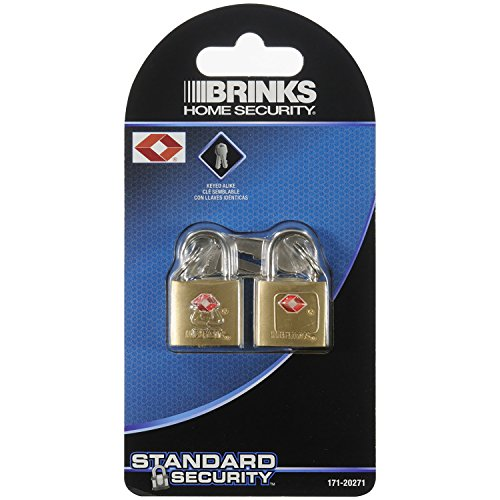 Brinks 171-20271 Solid Brass Keyed Lock (2-Pack), 22Mm