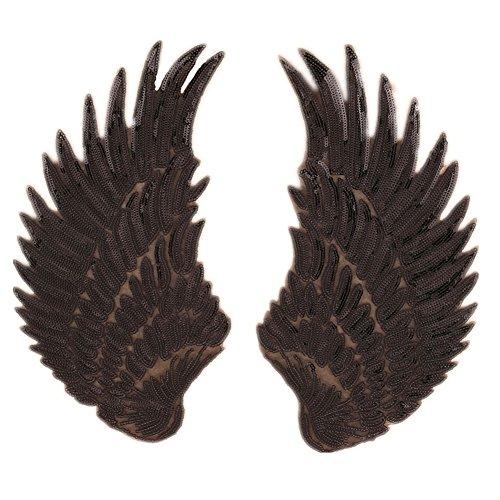 Parches de lentejuelas de alas de ángel grandes, para planchar o coser, adorno para bordar en la ropa o para manualidades
