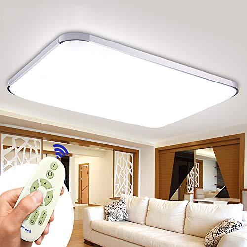 Lampada da soffitto a LED, dimmerabile, 72 W, con telecomando, utilizzabile in camera da letto, camera dei bambini, ufficio, cucina, corridoio, bagno, lampada da soggiorno (3000-6500 K)