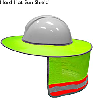 Hard Hat Sun Shield,Full Brim Mesh Neck Sun Shade Protector High Visibility,Reflective(Hard Hat Not Included) by Shellvcase