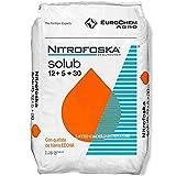 Suinga ABONO Soluble 25 Kg Fertilizante Nitrofoska 12-5-30. Aplicación Desde la floración hasta la formación del Fruto. 12% Nitrógeno, 5% Fósforo, 30% Potasio, 9% Azufre