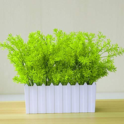 Rekkles Künstliche Plastikblumen-Blätter Zweig Naturgetreue Petersilie Blumenhauptdekoration Foto Props - 5