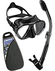 Cressi Tauchset Schnorchelset Matrix Dry Elite (Made in Italy) - Pack de Buceo (Adulto)