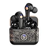 Wireless Earbuds Bluetooth 5.0 Headphones,40H Playtime w/Wireless Charging Case,IP6 Waterproof/Button Control/TWS Stereo Bluetooth Earphones in-Ear w/Mic Headset for Running Workout Gym