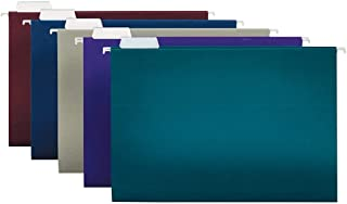 Office Depot 2-Tone Hanging File Folders, 1/5 Cut, 8 1/2in. x 14in, Legal Size, Assorted Colors, Box of 25, ODOM01945