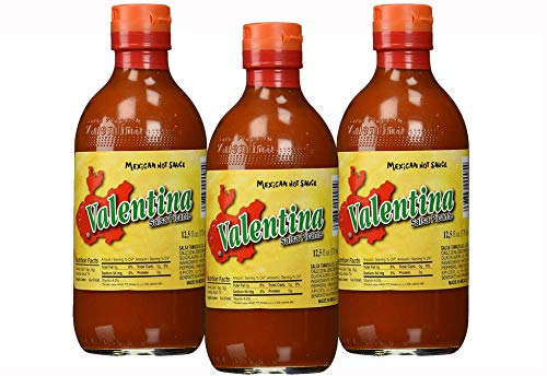 Valentina Salsa Picante Mexican Hot Sauce - 12.5 oz. (Pack of 3)