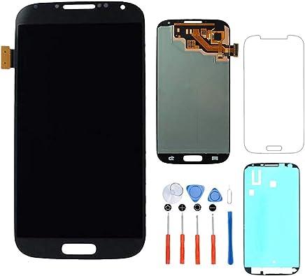 5b60a96cd94 Hezbjiti Compatible con Samsung Galaxy S4 i9500 i9505 i337 m919 Reemplazo de  Pantalla LCD + Kit