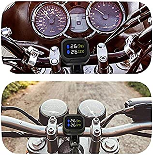 Wireless Tire Pressure Monitoring Motorcycle tire Motor Car tyre Alarm Waterproof Tape 2 External sensors for Two-whe