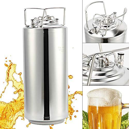 Fetcoi 18,5L Bierfass Gärbehälter Edelstahl Bierbraugerät Silber zur Herstellung von Lorbeerwein, Wein, Reiswein