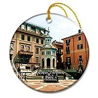 イタリアアックイテルメラボレンテクリスマスオーナメントセラミックシート旅行お土産ギフト