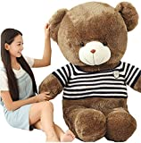 Elise L (100cm) nettes Plüschspielzeug Pullover tragen, Kinder Kuscheltier Puppe umarmen Bären,...