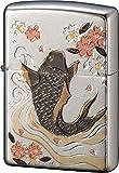 ZIPPO(ジッポー) ライター シルバー 電鋳板 鯉 和柄