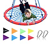 Royal Oak Giant 40 Inch Spider Web Tree Swing, Bonus Protective Swing Cover and Flags, 600 lb Weight Capacity, Easy Install, Steel Frame