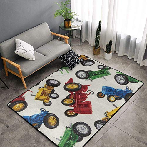 Bedroom Living Room Kitchen King Size Area Rug Home Decor - Tractors Floor Mat Doormats Quick Dry Bath Mat Yoga Mat Throw Rugs Runner (60 x 39 Inch)